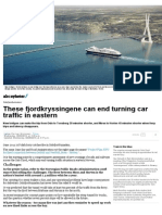 These Fjordkryssingene Can End Turning Car Traffic in Norway _ ABC News