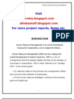 Origin of Hrm in India Project Report