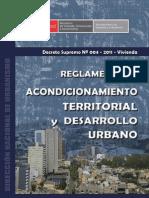 DS 004-2011 Reglamento de Acondicionamiento Territorial y Desarrollo Urbano (Formato A4)