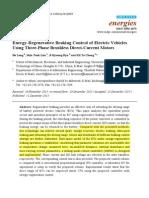 Energy-Regenerative Braking Control of Electric Vehicles