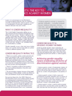 violence against women and girls - gender equality