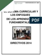 El Sistema Curricular - Directivos