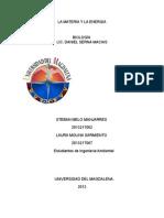 Trabajo de La Materia y La Energia Esteban Melo (Miercoles)