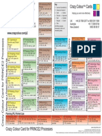 Crazy Colour Card for PRINCE2 Processes