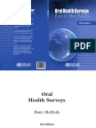 WHO Oral Health Surveys Basic Methods 5th Edition 2013