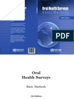 WHO Oral Health Surveys Basic Methods 5th Edition 2013