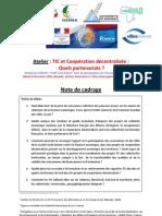 Note de Cadrage Atelier TIC et Coopération décentralisée