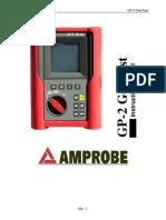 Manual Multimetro Rojo Resistividad