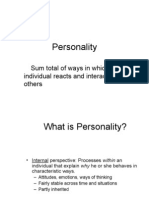 Five Model of Personality 2007