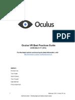 Oculus Best Practices