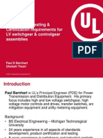 IEC 61439Design Type Testing Certification Requirements ForLV Switchgear Controlgear Assemblies