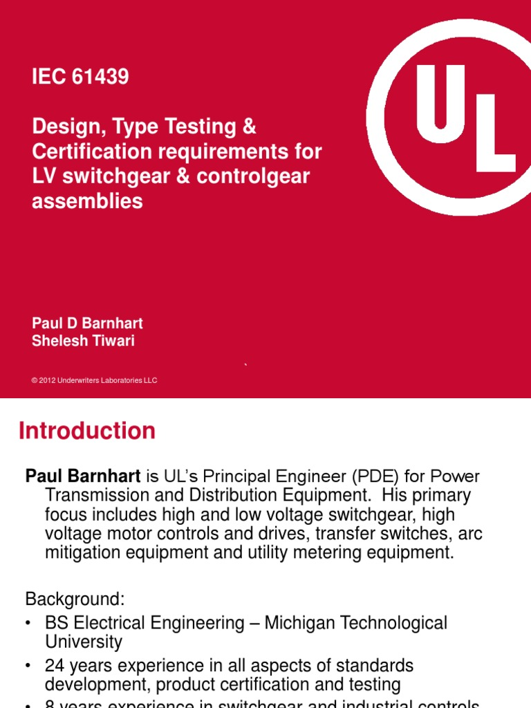 Iec 61439design Type Testing Certification Requirements Forlv
