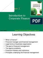 FM Topic 1 - Introduction to Corporate Finance