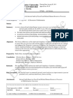 Agenda A7 Briefing Note Internal Audit Report