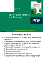 Topic 7 - Short Term Finance and Planning