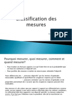 Classification Des Mesures