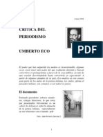 GRUPO 4 Eco Umberto - Critica Del Periodismo