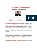 Music and Keyboard in the Classroom and Music Manifesto