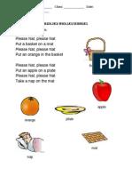 Kssr Year 3 - English Worksheet