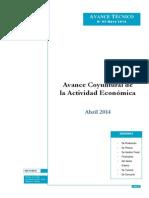 AVANCE CONYUNTURAL DE LA ACTIVIDAD ECONOMINA EN EL PERU