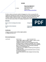 general resume 2014