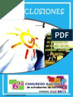 Conclusiones 6to Congreso Secundaria