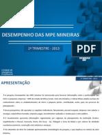 Desempenho Das MPE Mineiras 1T2013