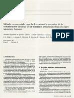 Enzimas-B2-Método Recomendado Para La Determinación en Rutina de La Concentración Catalítica de La Aspartato Aminotransferasa en Suero Sanguíneo Humano (1987)