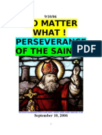 9/10/06 NO MATTER WHAT ! PERSEVERANCE of the SAINTS by VanderKOK