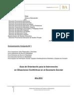 Guía de Orientación para la Intervención en Situaciones Conflictivas en el Escenario Escolar