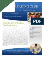 Boys Reading Club Flyer