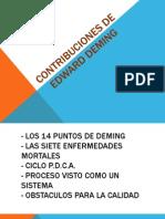 Contribuciones de Demming