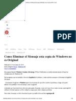 Como Eliminar El Mensaje Esta Copia de Windows No Es Original, 2014, Trucos