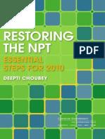 Restoring the NPT
