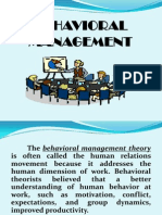 Behavioral Management1