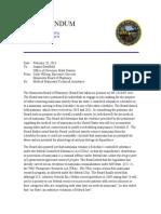 Memorandum to Governor's Office Re