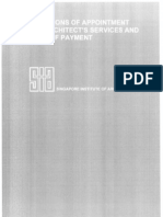 Conditions of Appointment and Architect's Services and Mode of Payment