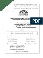 Etude Et Simulation d'Un Système RFID