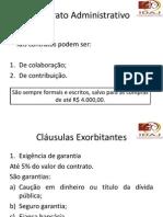 DIREITO ADMINISTRATIVO CONTRATOS E EXECUÇÕES