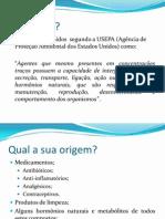 Desruptores endócrinos - apresentação