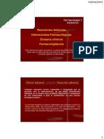 Teórico N° 6_Reacciónes adversas e interacciones de drogas_Reacciones adversas
