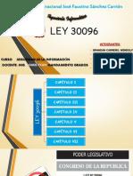 Análisis de La Ley 30096 - Convenio Budapest