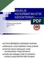 Majlis Kehormatan Etik Kedokteran