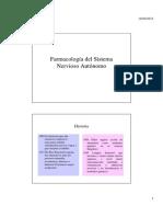 Teórico N° 9_Farmacología del S. N. A.Sistema nervioso autónomo