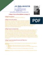 Summer 2014 World Religions Syllabus