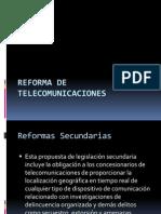 Reforma de Telecomunicaciones