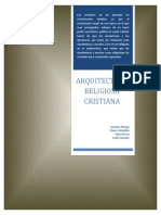 Monografia Arquitectura Religiosas Cristinas