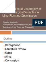 Quantification of Uncertainty of Geometallurgical Variables in Mine