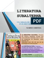 LITERATURA SUBALTERNA