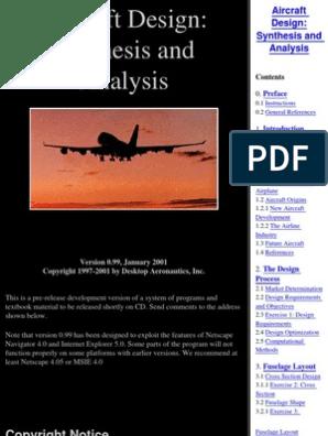 UAV) - Aircraft Design | Drag (Physics) | Airlines